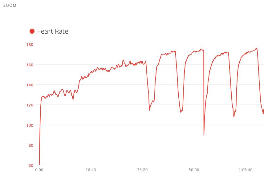 Maks 174, trening na wysokości, tempo 3:20 min/km