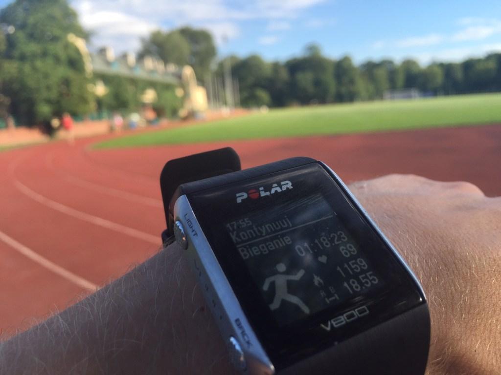Koczę trening po 18.5 km, to znaczy, że jestem kompletnie zajechany ;)
