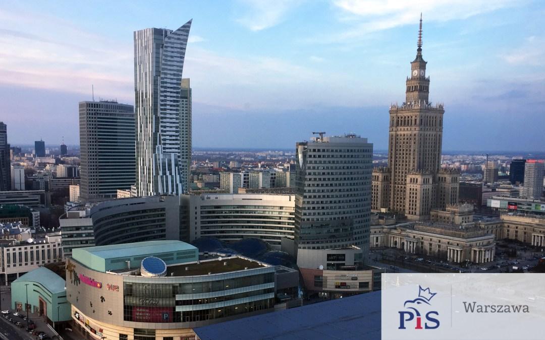 Znamy kandydatów Prawa i Sprawiedliwości do Rady m.st. Warszawy