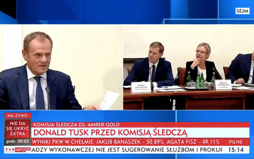 Donald Tusk ostatnim świadkiem komisji śledczej ds. Amber Gold