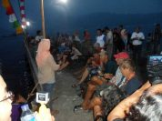 makan bersama di festival karimata 2015 di desa betok menyambut sail karimata 2016
