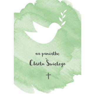 Kartka składana - Na pamiątkę Chrztu Świętego -5211
