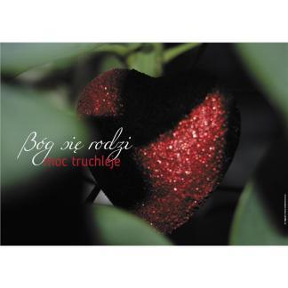 Plakat Boże Narodzenie 2016 czerwone serce