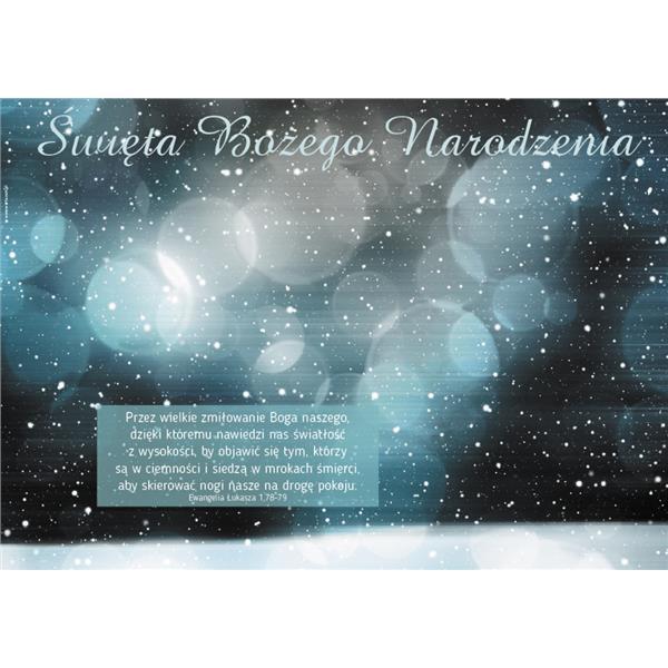 Plakat Boże Narodzenie 2017 - śnieg