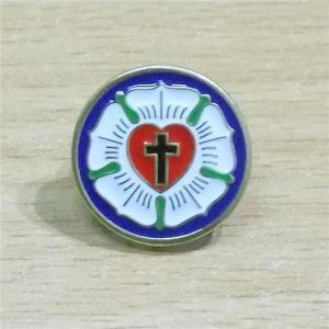 Znaczek - Róża Lutra - metalowy pins