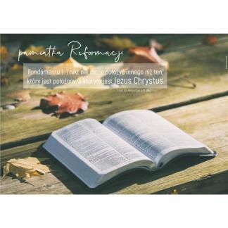 Plakat Reformacja- otwarta Biblia