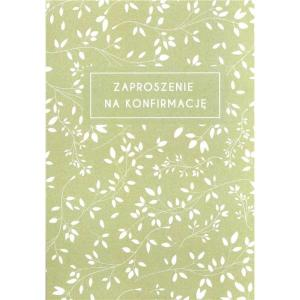 Zaproszenie konfirmacyjne - kwiat oliwka
