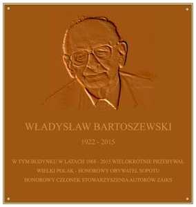 Odsłonięcie tablicy Władysława Bartoszewskiego