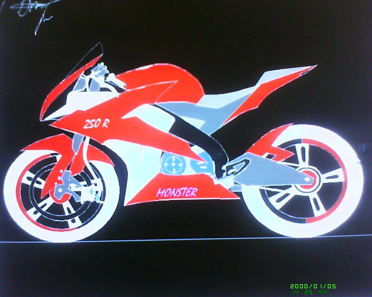 Gambar Sketsa Motor Sport