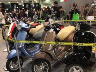 line up vespa tokyo motorcycle show 2016