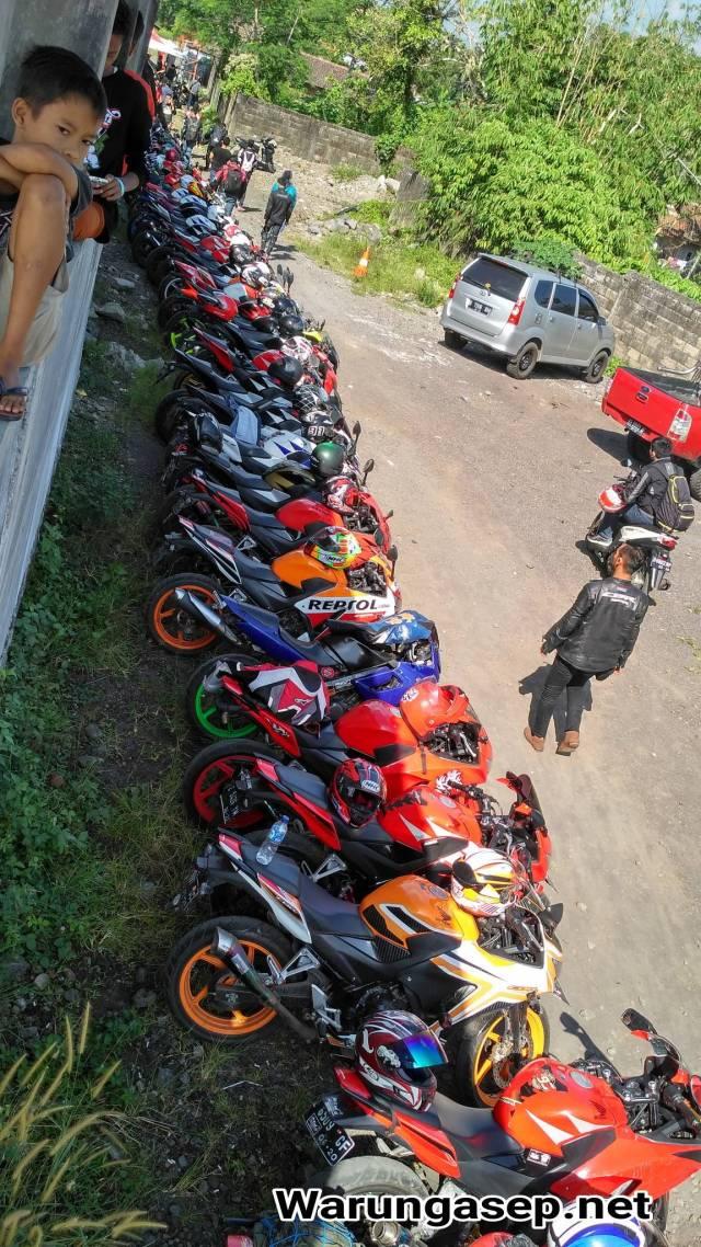 Puluhan Honda CBR berkumpul di Sirkuit Peusar