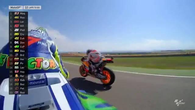 Marquez nyalip Rossi di Motogp Aragon 2016