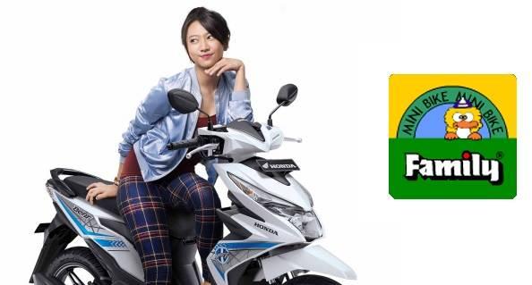 Honda Beat + sepeda family haha