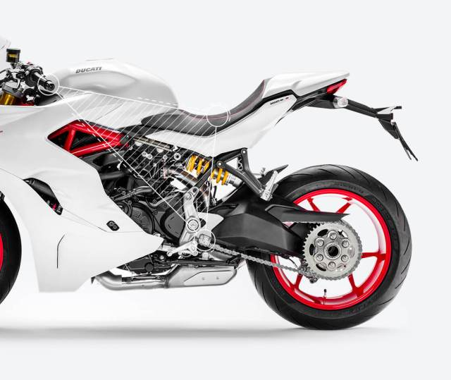 segitiga ergonomi riding Ducati Supersport