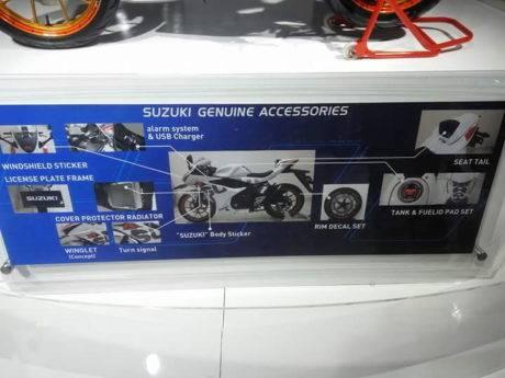 Ragam Genuine accessories Suzuki GSX-R150