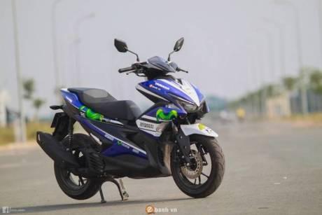 Yamaha Aerox 155 livery Motogp Movistar, hasil modifan gan!