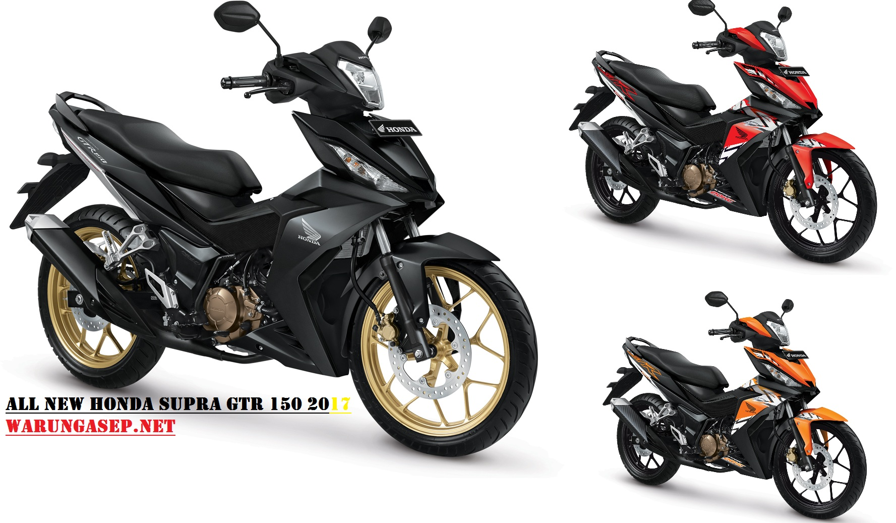 3 Warna Baru All New Honda Supra GTR150cc 2017 Velg Warna Gold