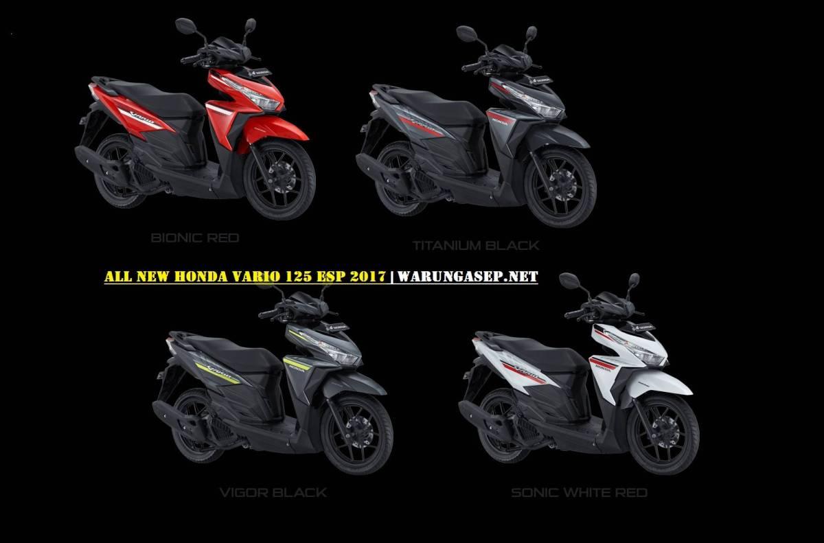 Foto 4 Warna Baru Honda Vario 125 2017, Striping Baru Versi Merah Putih Hadir Lagi, Harga Rp. 18,1Jutaan