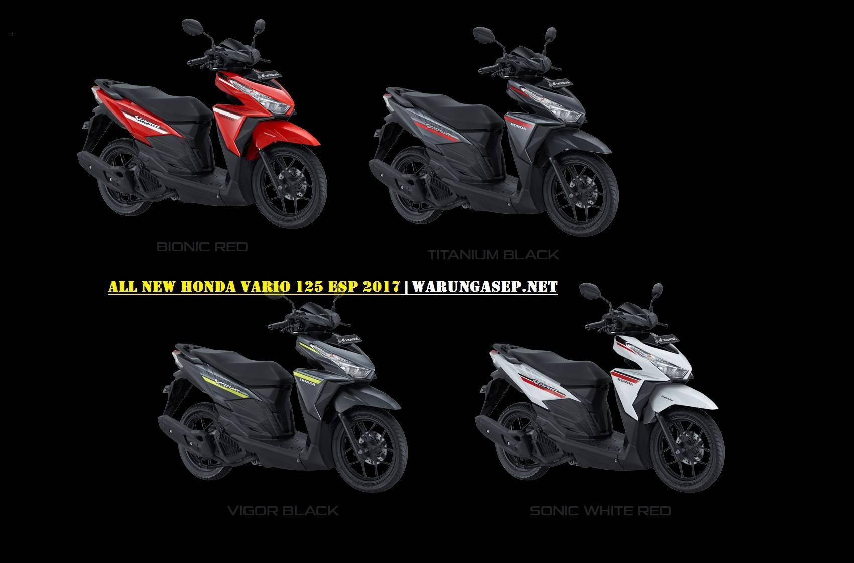Foto 4 Warna Baru Honda Vario 125 2017 Striping Baru Versi Merah