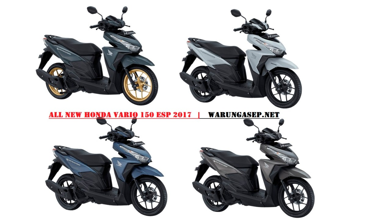 2 Warna Baru Honda Vario 150 2017, Versi Black Matte Pakai Velg Warna Gold.. Harga Rp 21,175jutaan