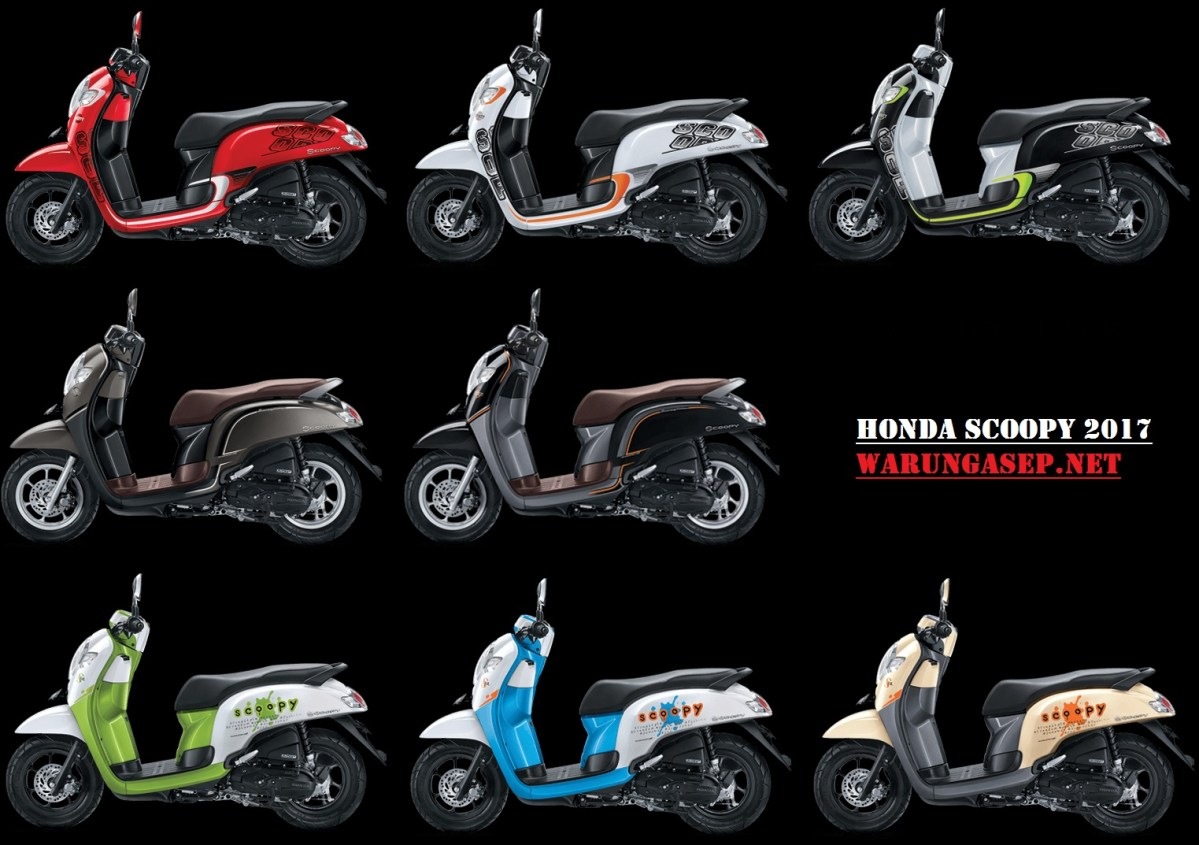 Foto Studio 8 Pilihan Warna Honda Scoopy 2017 Varian Sporty, Stylish dan Playful