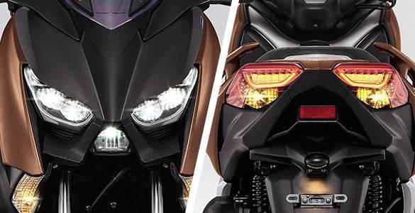 fitur yamaha XMAX 250cc 2017 lampu LED