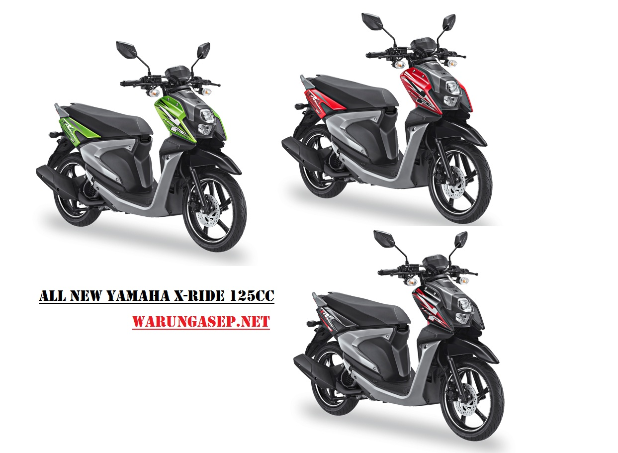 Foto Studio 3 Warna All New Yamaha X Ride 2017 Ada Warna Hijau