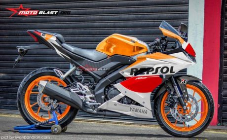 Galeri Foto Modifikasi Striping All New Yamaha R15 2017 Warungasep