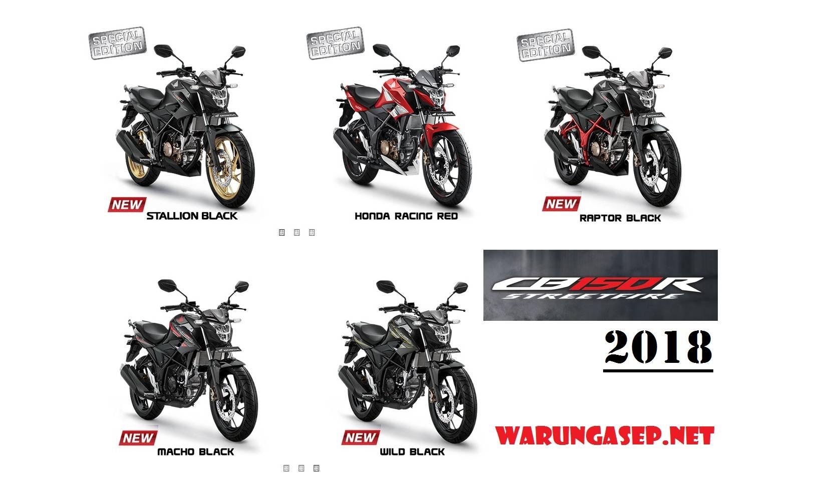 All New Honda CB150R 2018 Warna Baru Stallion Black Dengan Velg Emas
