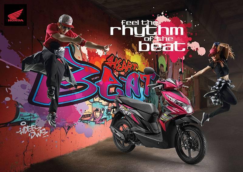 Ada Warna Baru Honda Beat 2018 di Malaysia, Semakin Funky Stripingnya...