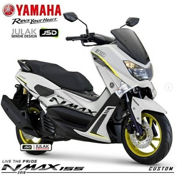 Jika Yamaha Nmax Modif Pakai Velg Hijau Stabilo Kekinian, Cakep Juga!
