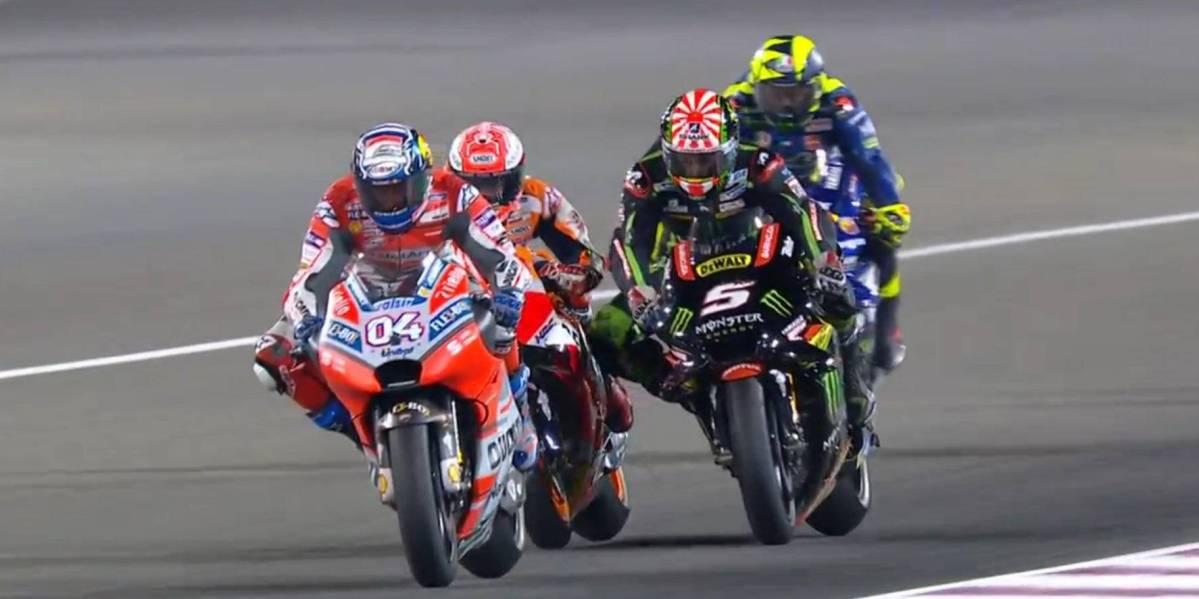Hasil Race Motogp Qatar 2018, Dovizioso Juara Kalahkan Marquez dan Rossi