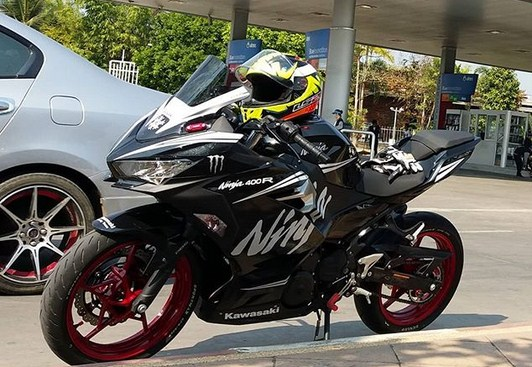 Modifikasi Ninja 250 FI Facelift Livery Winter Test, Makin Garang...!!!