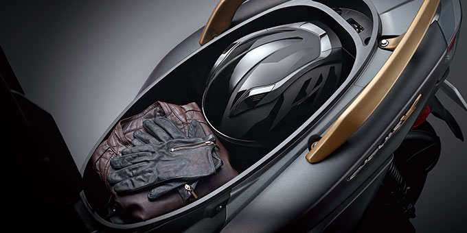 yamaha cygnus x facelift 2018 bagasi