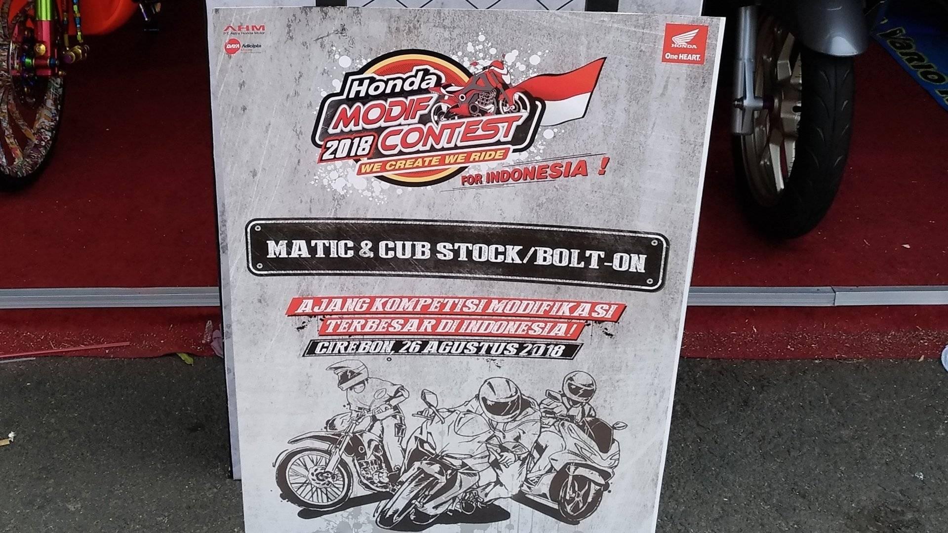 Event Honda Modif Contest 2018 Hadir Di Cirebon Warungasep