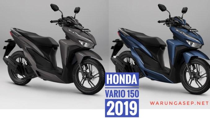Honda Vario 150 2019 Punya 2 Warna Baru Matte Blue Dan Matte