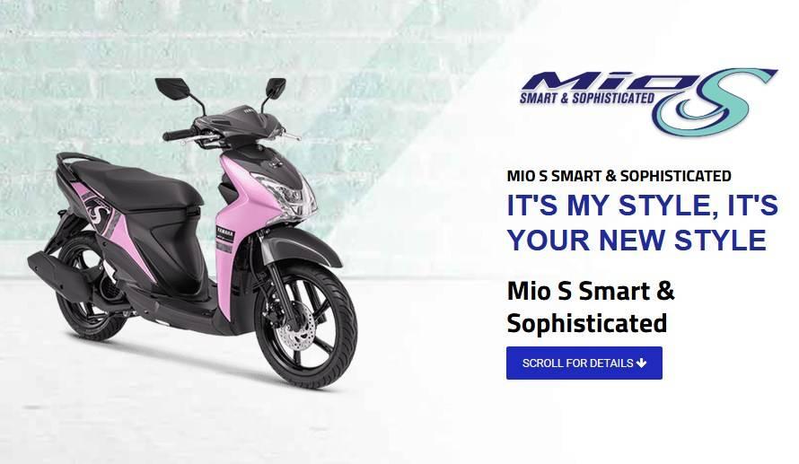 5 Warna Baru Yamaha Mio S 2019 Harga Rp 16jutaan Warna Pink