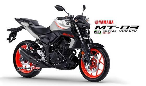 Illustrasi Yamaha Mt 25 Facelift Karya Julak Sendie Akan Seperti