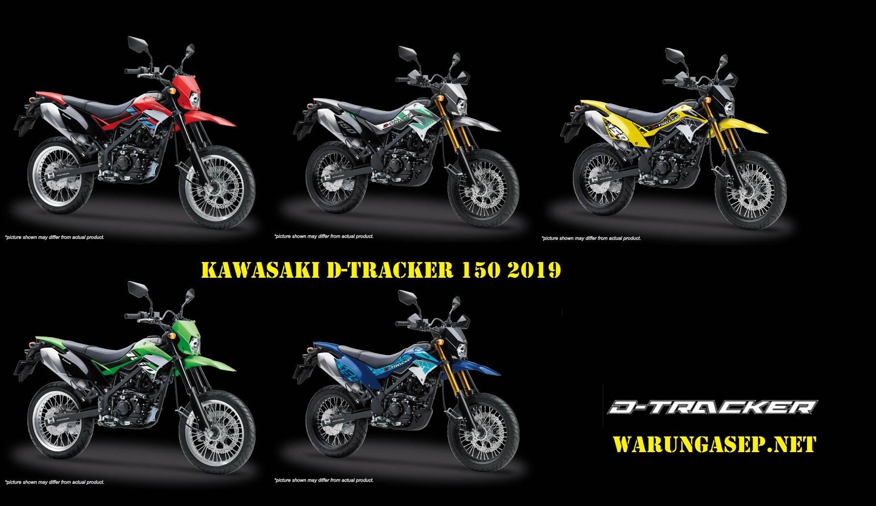 Kawasaki D Tracker 150 2019 Punya 5 Warna Baru Stripingnya Makin