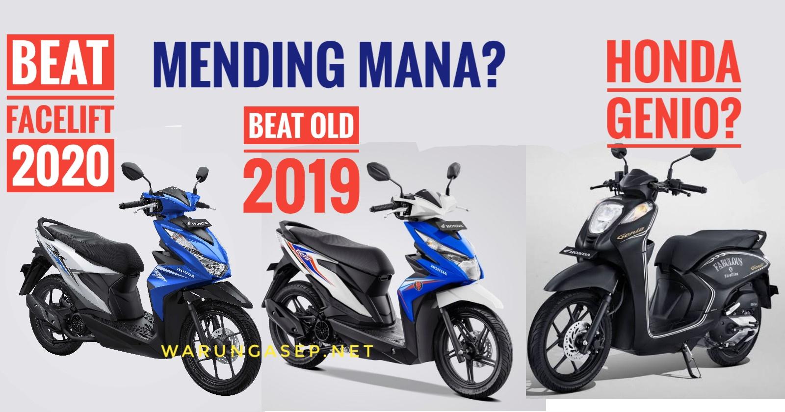 Perbandingan Spesifikasi Dan Harga Honda Beat 2020 Baru Dengan