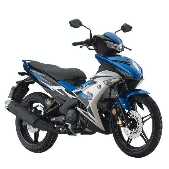 yamaha y15zr 2021 silver biru