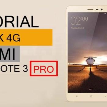 Cara Mengembalikan 4G Xiaomi Note 3 Pro