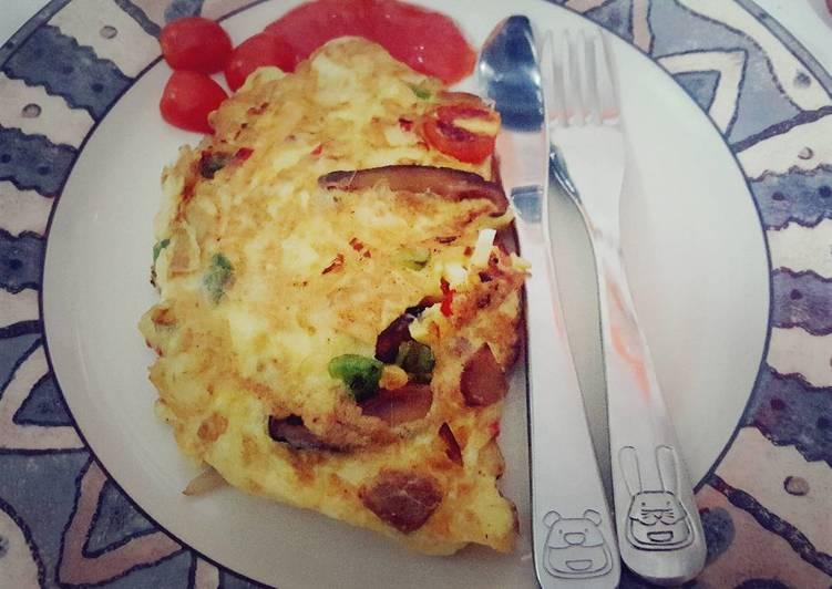 resep omelet jamur shitake,jamur shitake,omelet jamur shitake,cara membuat omelet jamur shitake