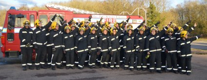Firefighter - team activity group photo