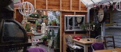 Quirky pub garden