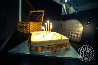 Birthday Cake to Look like Bacon Sandwich