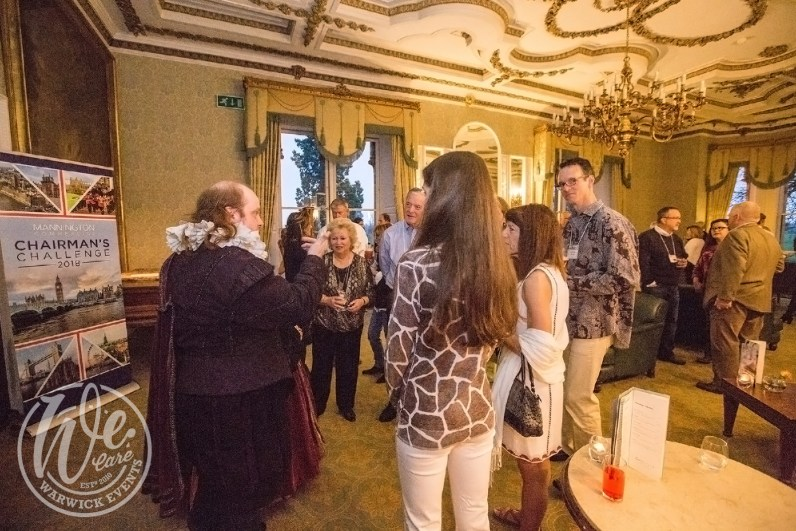 Warwick events drinks reception-William-Shakespeare actor entertainment