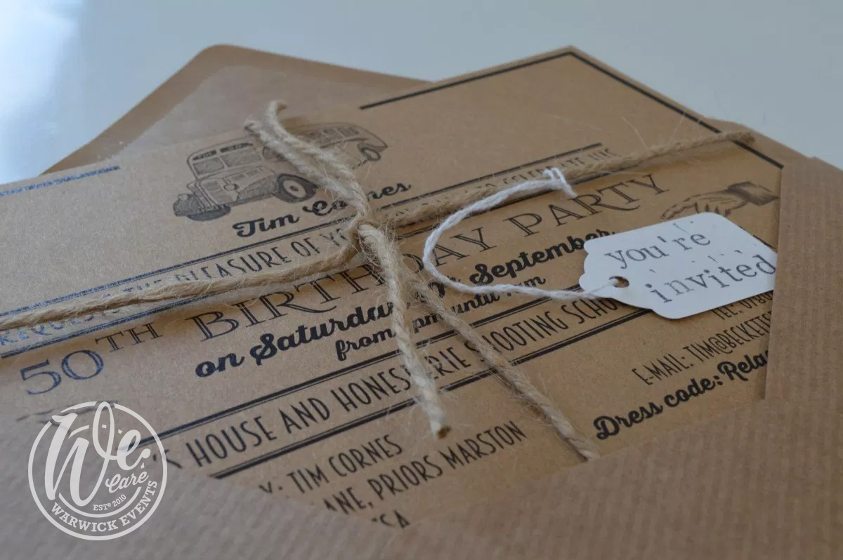 event invitation recycled