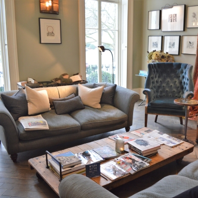 Comfortable sofas and coffee table