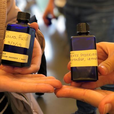 Bottles of handmade fragrence